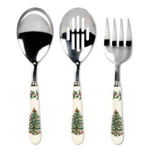 NEW Spode Christmas Tree 3-piece Cutlery Set